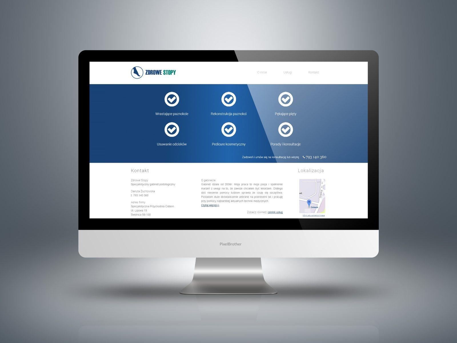 strona internetowa zdrowe stopy