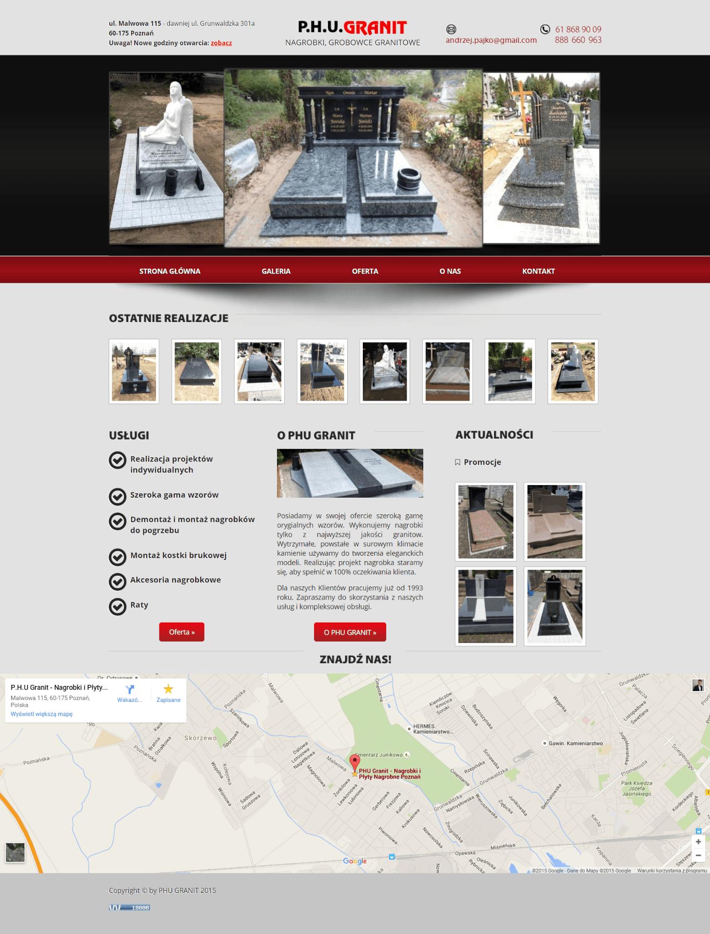 strona internetowa phu granit