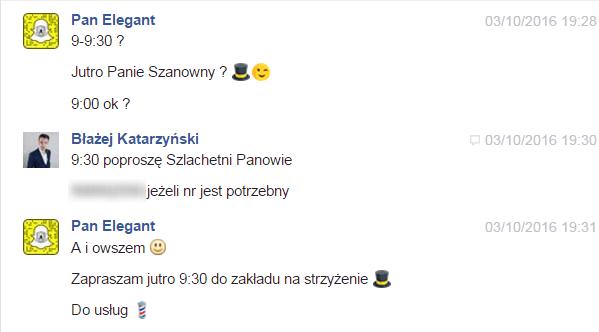komunikacja facebook