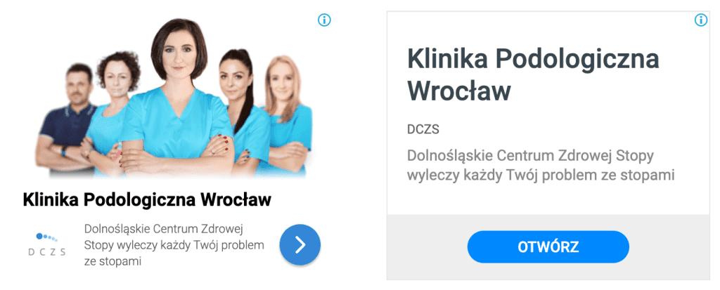 reklama Google Ads baner podolog