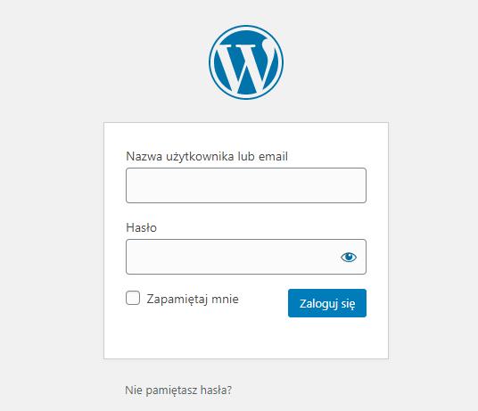 Logowanie do WordPressa